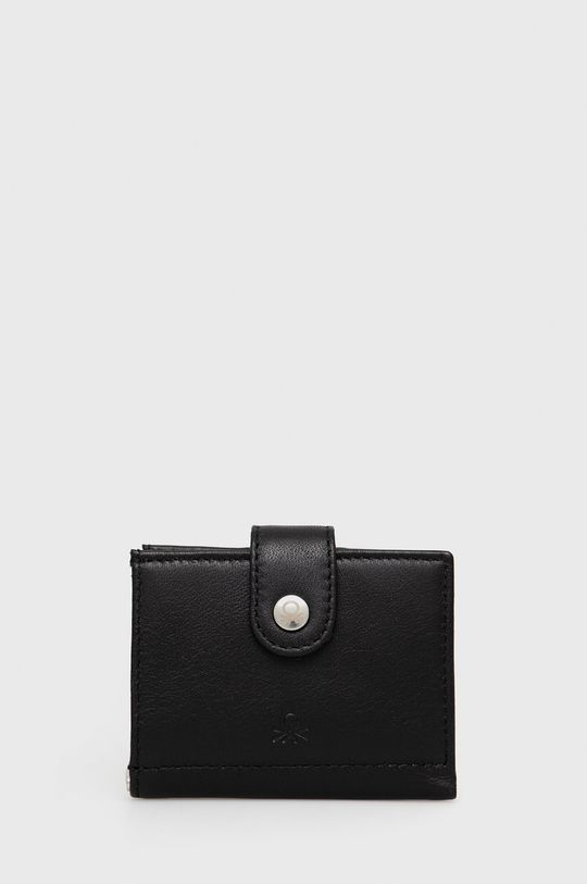 negru United Colors of Benetton - Portofel de piele De bărbați