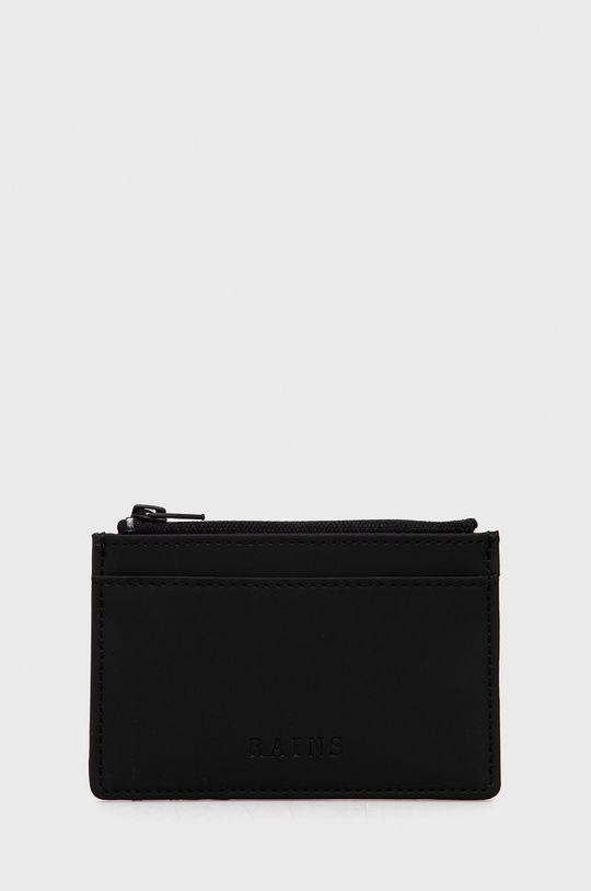 czarny Rains - Portfel 1645 Zip Wallet Unisex