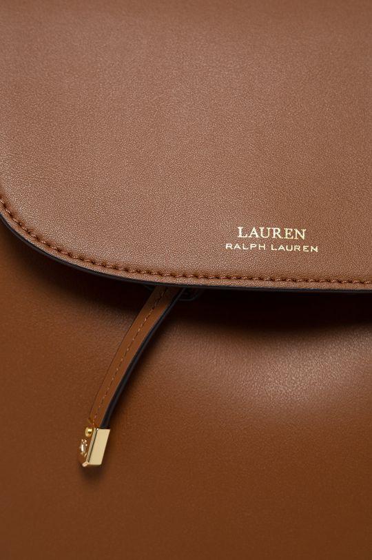 Lauren Ralph Lauren - Plecak skórzany brązowy