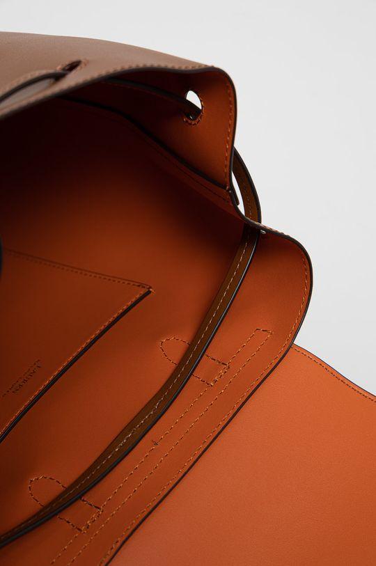 brązowy Lauren Ralph Lauren - Plecak skórzany