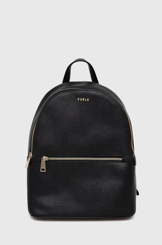 čierna Furla - Kožený ruksak Libera Dámsky