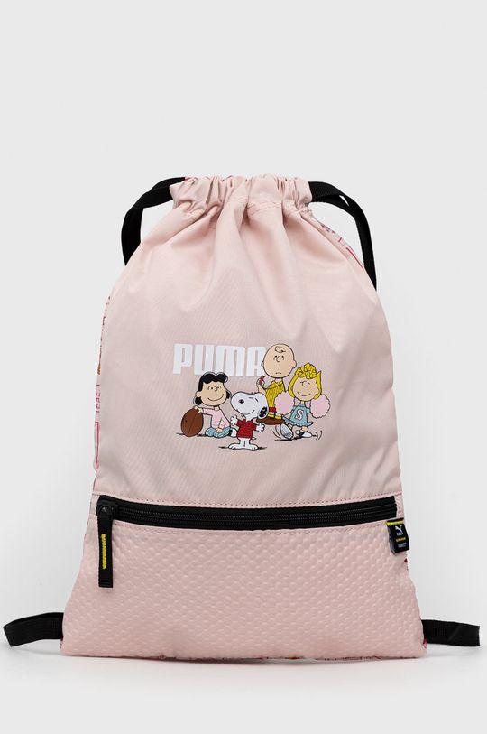 różowy Puma - Plecak dziecięcy x Peanuts Dziewczęcy