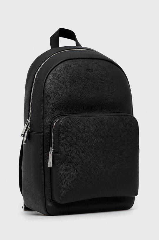Boss - Plecak skórzany czarny