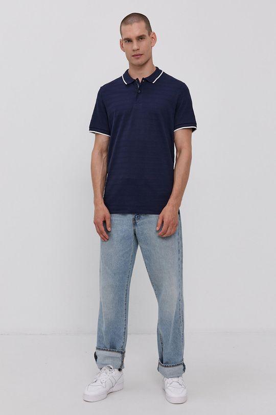 Tom Tailor - Polo tričko námořnická modř