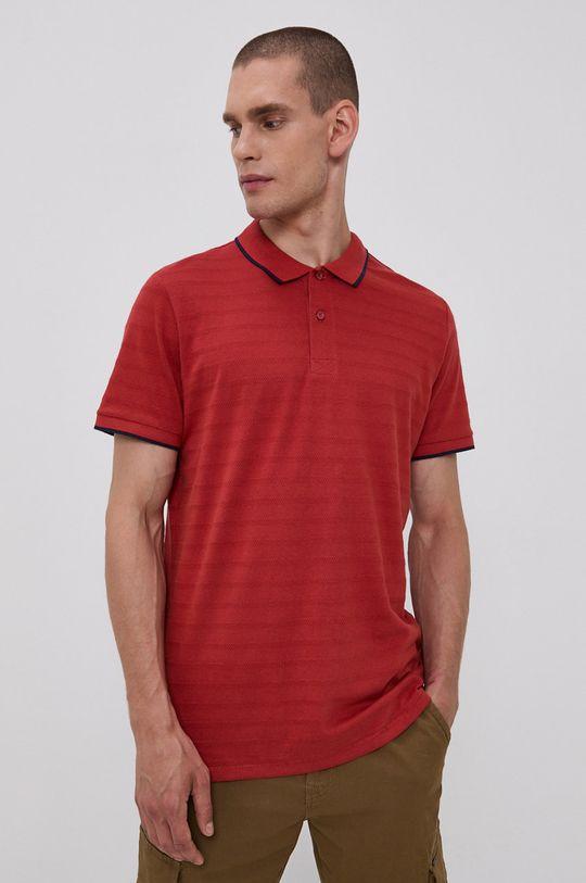 červená Tom Tailor - Polo tričko Pánský