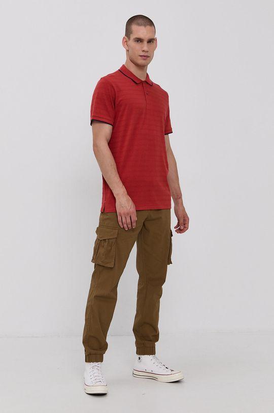 Tom Tailor - Polo tričko červená