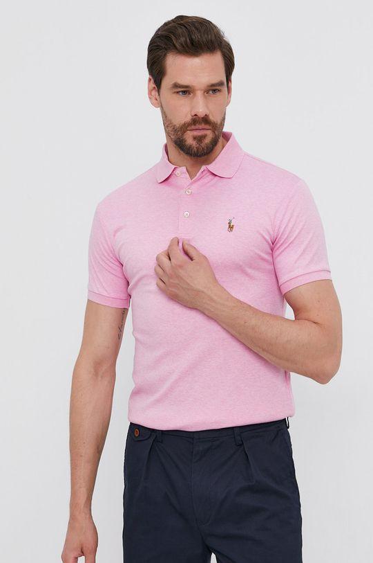 růžová Polo Ralph Lauren - Polo tričko Pánský
