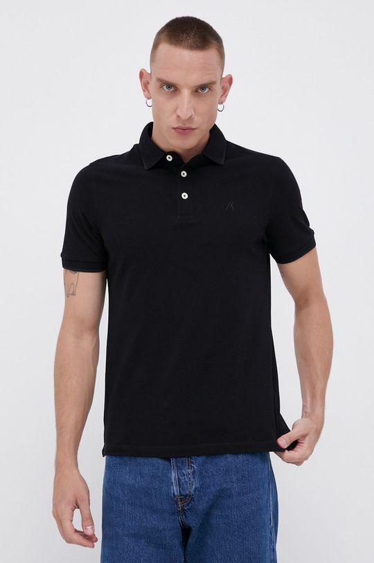 czarny Produkt by Jack & Jones - Polo bawełniane Męski