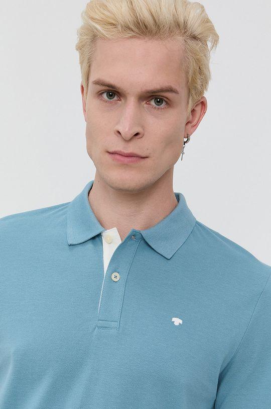 modrá Tom Tailor - Bavlnené polo tričko Pánsky