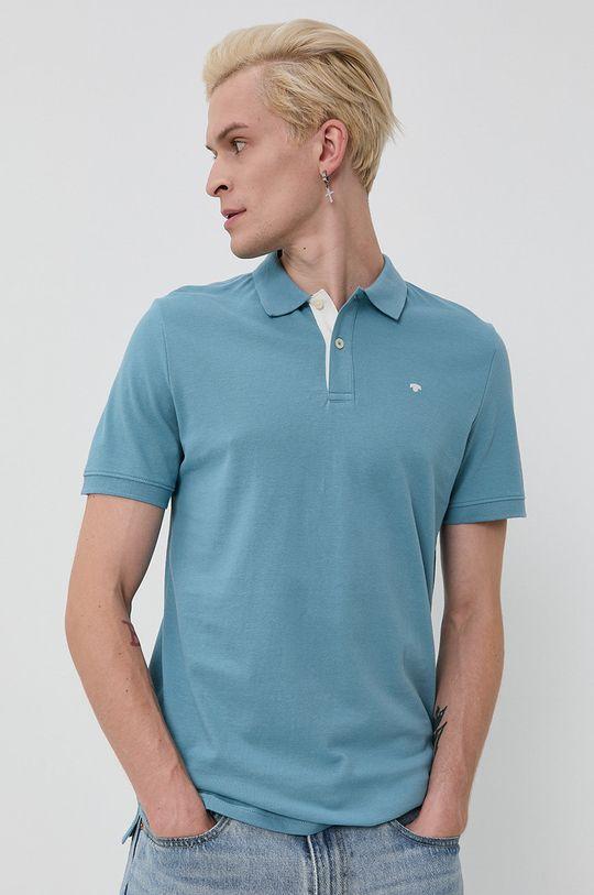modrá Tom Tailor - Bavlnené polo tričko