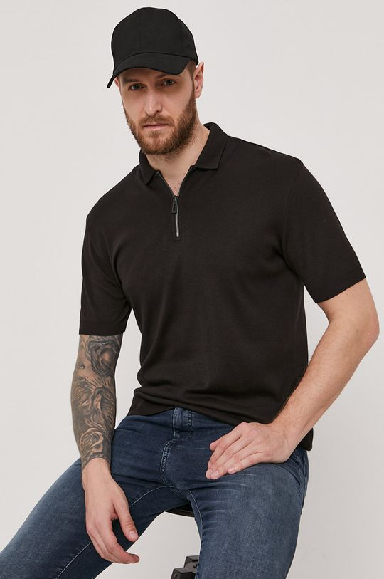 čierna Hugo - Polo tričko Pánsky
