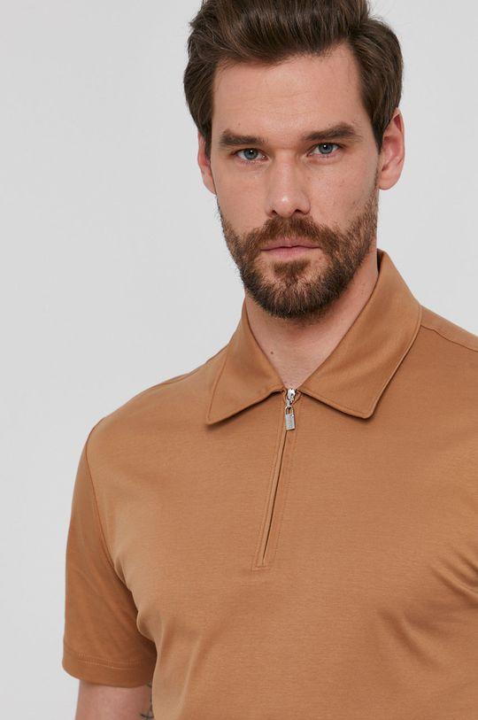 zlatohnědá Tiger Of Sweden - Polo tričko
