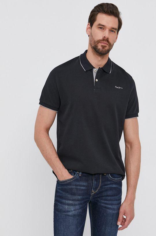 černá Pepe Jeans - Polo tričko LUCAS Pánský