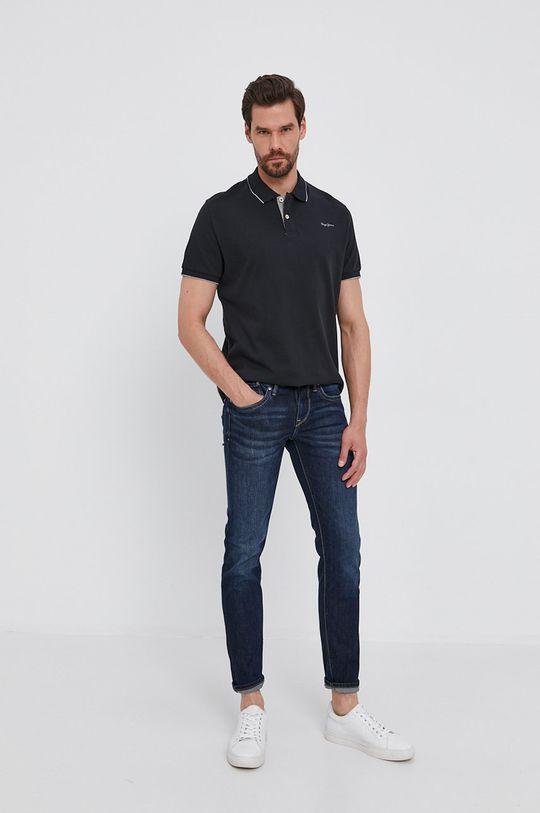Pepe Jeans - Polo tričko LUCAS černá