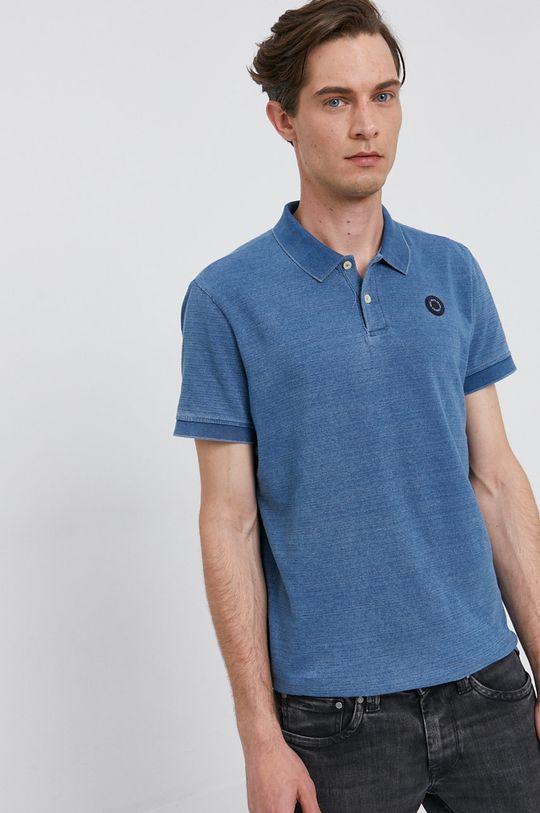 modrá Pepe Jeans - Tričko MAURO Pánský