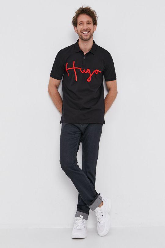 Hugo - Tricou Polo negru