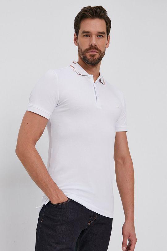 alb Guess - Tricou Polo De bărbați