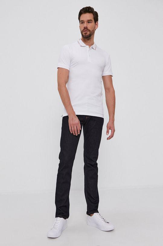 Guess - Tricou Polo alb