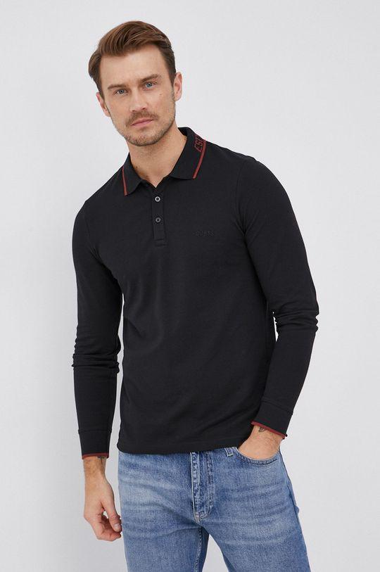 Guess - Tričko s dlouhým rukávem černá