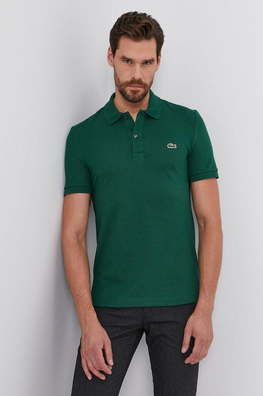 zelená Lacoste - Bavlnené polo tričko Pánsky