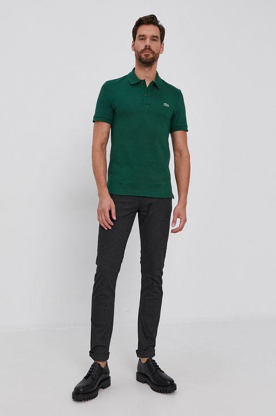 Lacoste - Bavlnené polo tričko zelená