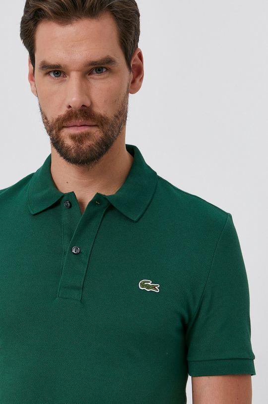 zelená Lacoste - Bavlnené polo tričko