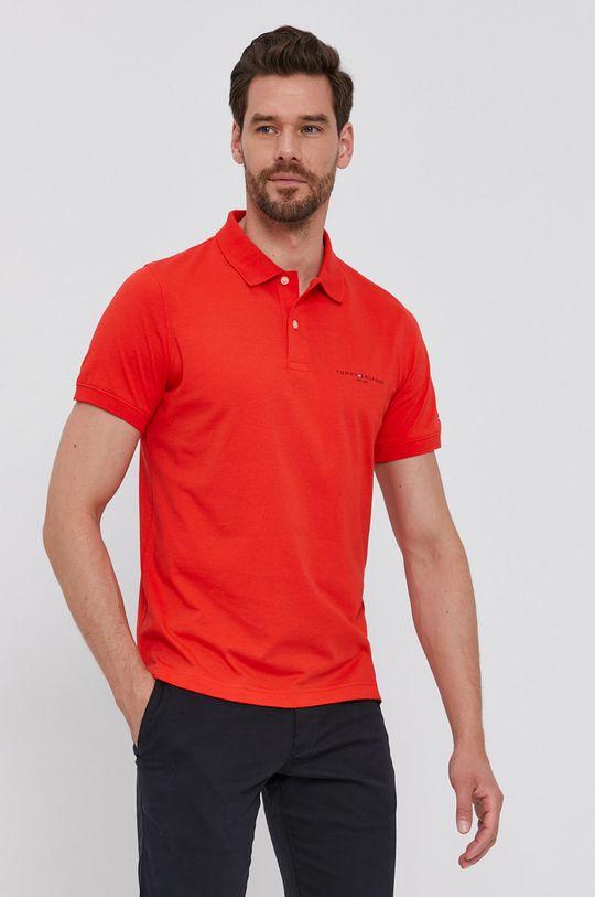 korálová Tommy Hilfiger - Polo tričko Pánský