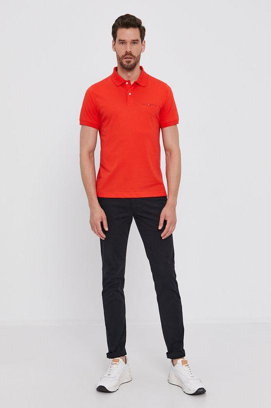 Tommy Hilfiger - Polo tričko korálová