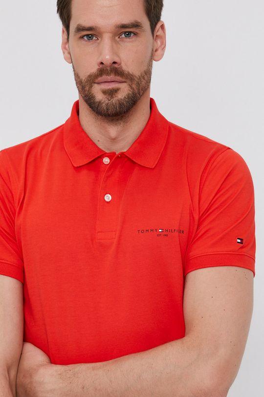 korálová Tommy Hilfiger - Polo tričko
