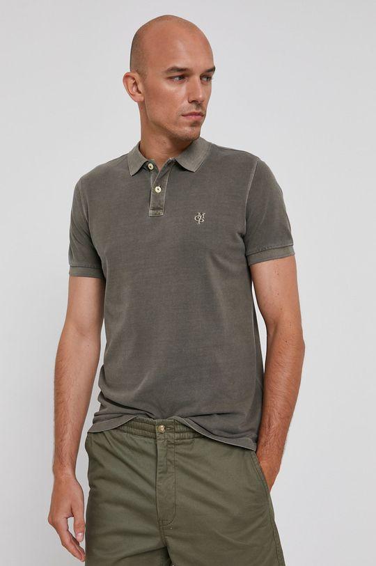 tlumená zelená Marc O'Polo - Polo tričko Pánský