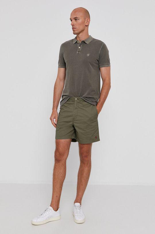 Marc O'Polo - Polo tričko tlumená zelená