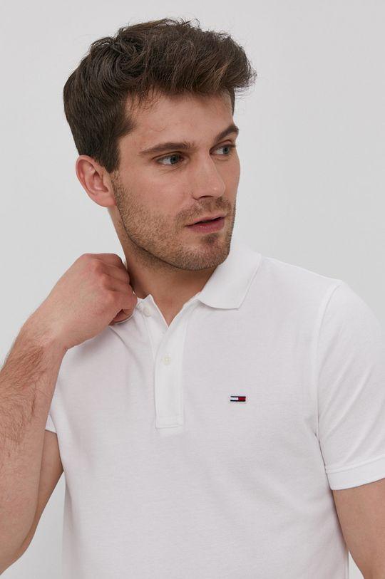 bílá Tommy Jeans - Polo tričko
