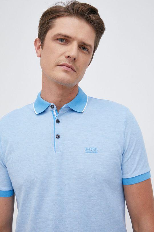 jasny niebieski Boss - Polo bawełniane Męski