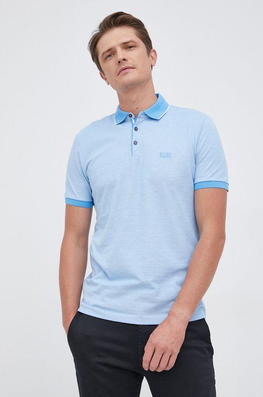 jasny niebieski Boss - Polo bawełniane