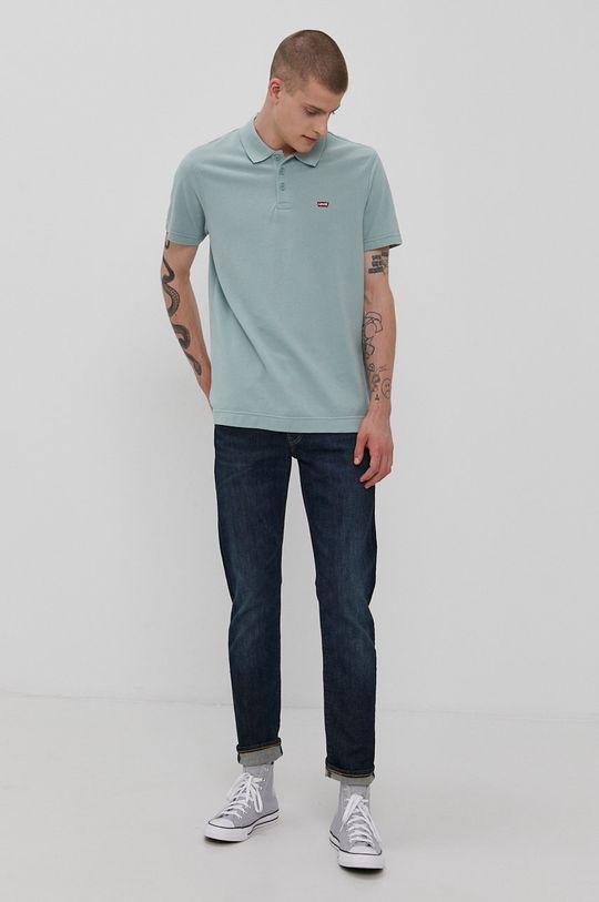 Levi's - Polo tričko tyrkysová