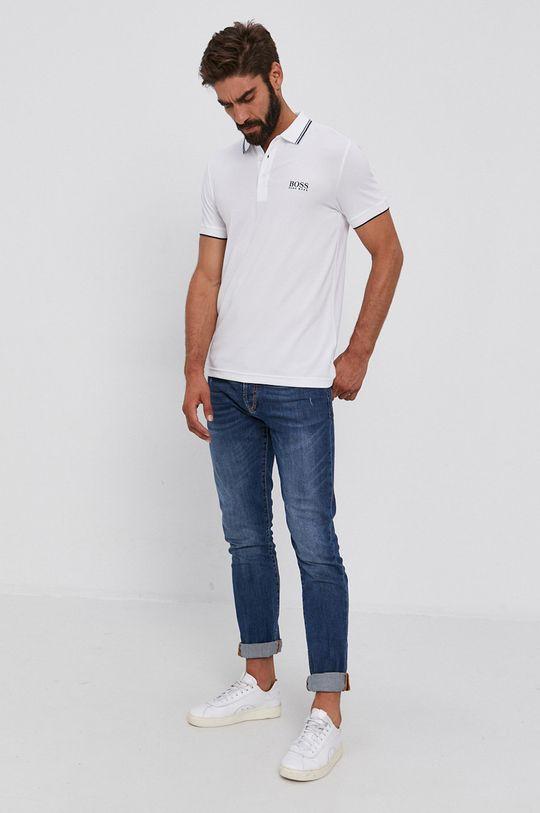 Boss - Polo tričko Athleisure biela