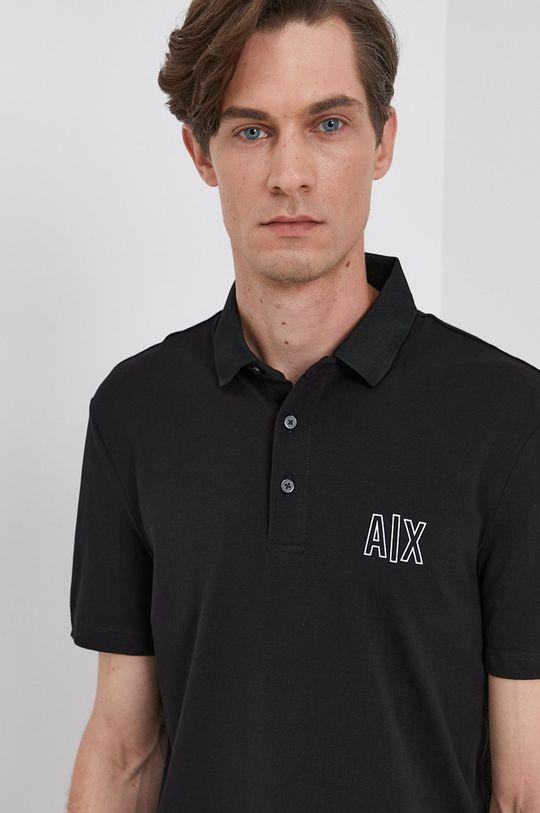 czarny Armani Exchange - Polo