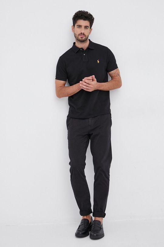 Polo Ralph Lauren - Polo bawełniane czarny