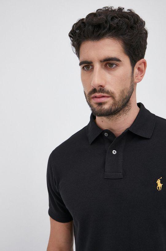 czarny Polo Ralph Lauren - Polo bawełniane