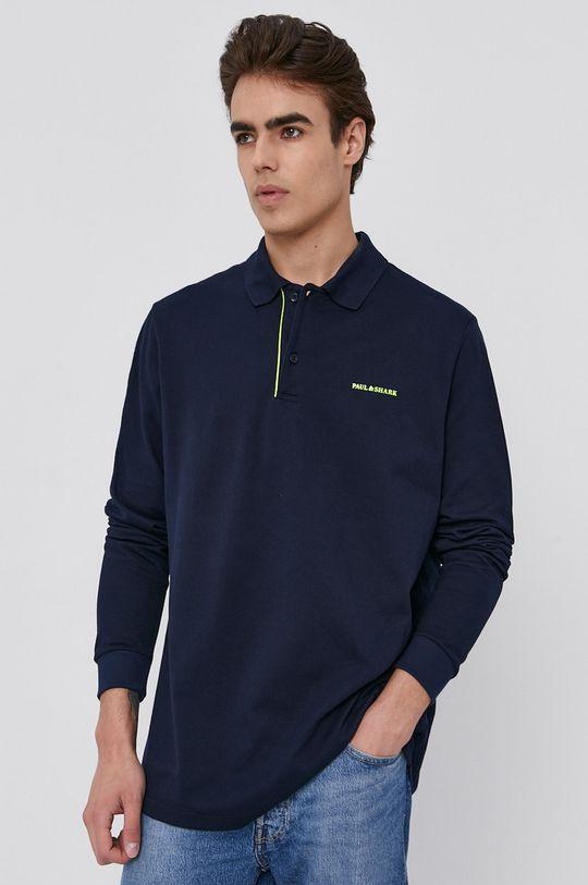 námořnická modř PAUL&SHARK - Tričko s dlouhým rukávem Pánský