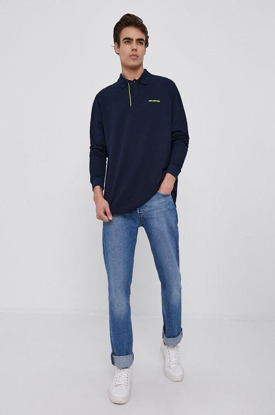 PAUL&SHARK - Tričko s dlouhým rukávem námořnická modř