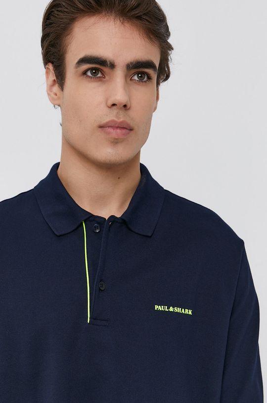 námořnická modř PAUL&SHARK - Tričko s dlouhým rukávem
