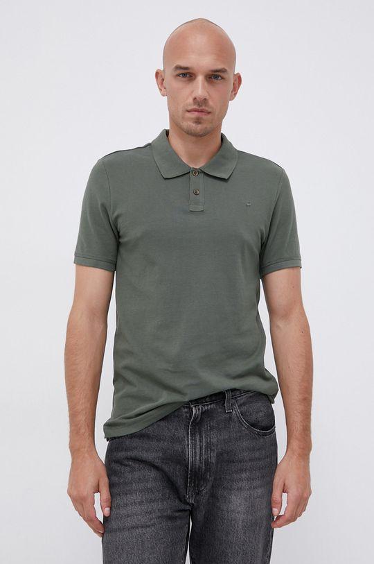 zelená Mustang - Bavlněné polo tričko Pánský