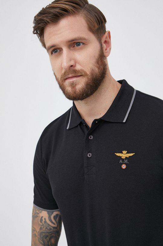 Aeronautica Militare - Polo bawełniane 100 % Bawełna