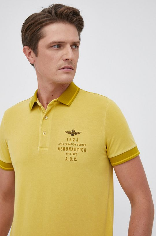 żółty Aeronautica Militare - Polo Męski