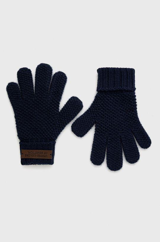 námořnická modř United Colors of Benetton - Dětské rukavice Chlapecký
