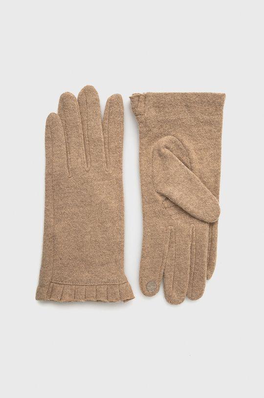 beżowy Only - Rękawiczki z domieszką wełny Damski
