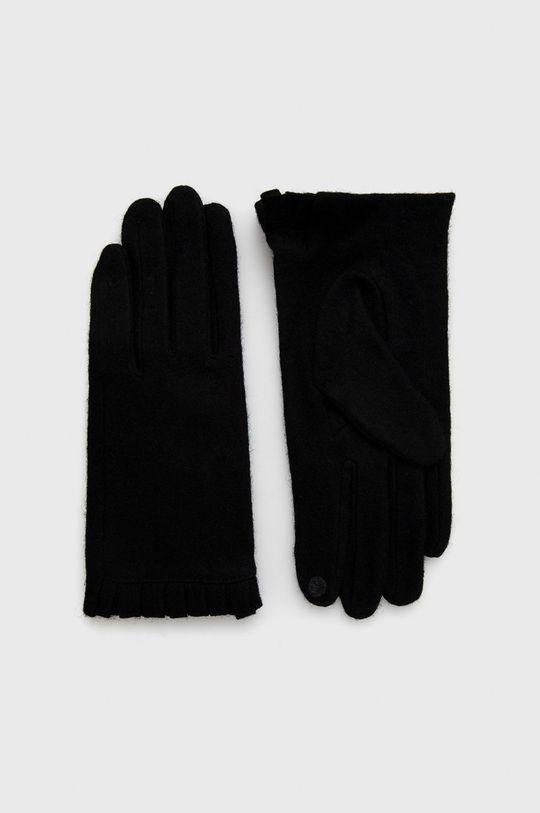 czarny Only - Rękawiczki z domieszką wełny Damski