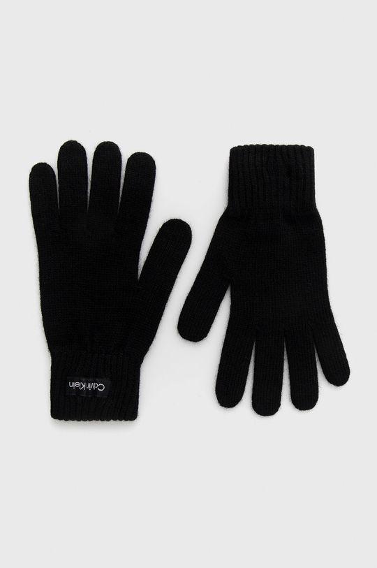 černá Calvin Klein - Rukavice z vlněné směsi Dámský