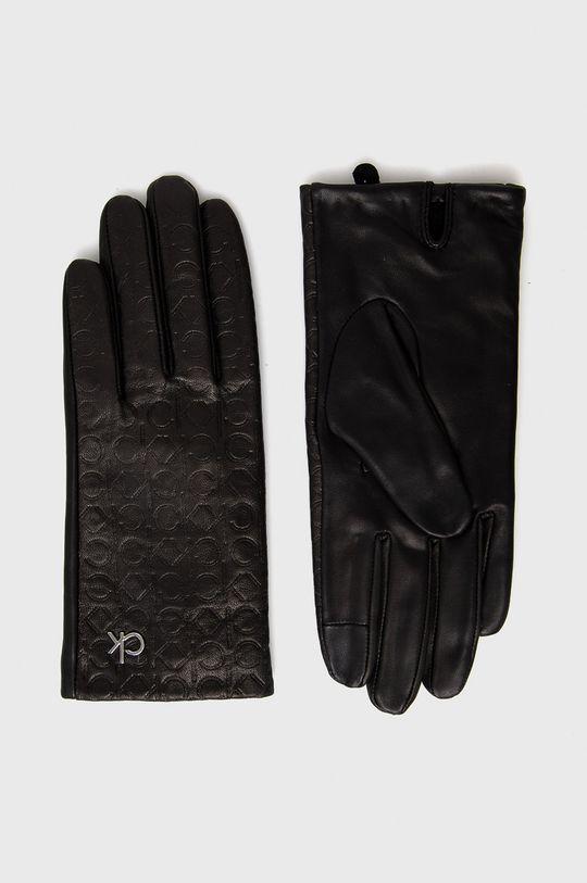 czarny Calvin Klein - Rękawiczki skórzane Damski